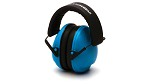 Pyramex VentureGear VG90 Youth Series NRR 19dB Blue Earmuffs in Clamshell Package