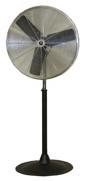 "TPI 30"" Standard Pedestal Mount 2.0 Amp Commercial Oscillating Fan"