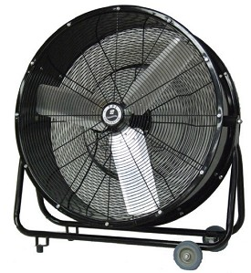 "TPI 30"" Steel Commercial Direct Drive Portable Blower Fan"