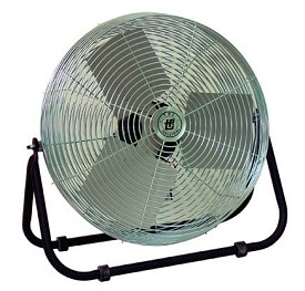 "TPI 12"" Industrial Workstation Floor Fan"