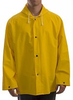 Tingley J53107-M Industrial Work Jacket w/ Attached Hood - Yellow