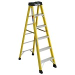 Werner 6 ft Fiberglass Single Sided Stepladder 6100 Series