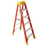 Werner 6 ft Fiberglass Single Sided Stepladder 6200 Series