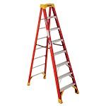 Werner 8 ft Fiberglass Single Sided Stepladder 6200 Series