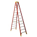 Werner 12 ft Fiberglass Single Sided Stepladder 6200 Series