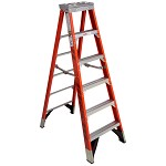 Werner 6 ft Fiberglass Single Sided Stepladder 7400 Series