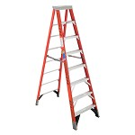Werner 8 ft Fiberglass Single Sided Stepladder 7400 Series