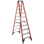 Werner 10 ft Fiberglass Single Sided Stepladder 7400 Series
