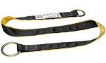 Werner Cross Arm Anchor Strap with O-Ring and D-Ring- 4 ft
