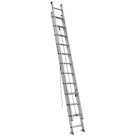 Werner 24 ft. Aluminum D-Rung Extension Ladder D1300-2 Series