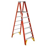 Werner 6 ft Fiberglass Platform Single Sided Stepladder P6200 Series