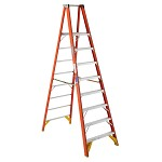 Werner 8 ft Fiberglass Platform Single Sided Stepladder P6200 Series