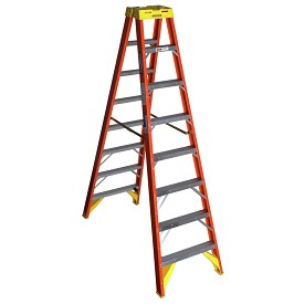 Werner 8 ft Fiberglass Double Sided Stepladder T6200 Series