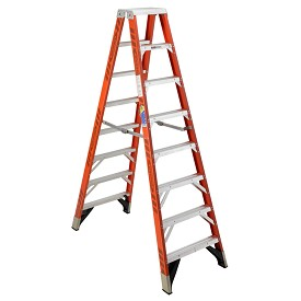 Werner 8 ft Fiberglass Double Sided Stepladder T7400 Series
