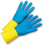 West Chester 2224 Premium Neoprene Over Latex Flock Lined Gloves Size 7 - 12 pr.