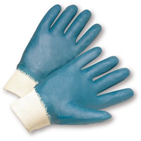 West Chester 4000 Fully Coated Nitrile Smooth Finish Gloves with Knit Wrist Size XL - 12 pr.