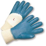 West Chester 4060 Palm Coated Nitrile Smooth Finish Gloves with Knit Wrist Size S - 12 pr.