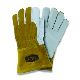 West Chester 6143 Ironcat Premium Grain Goatskin Fleece Lined MIG Welding Gloves Size L - 12 pr.