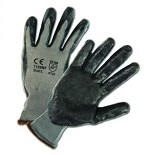 West Chester 713SNF-2X Foam Nitrile Palm Coated Nylon Gloves- Gray/Black