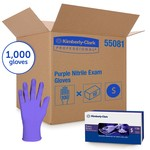 Kimberly-Clark Purple Nitrile Exam Gloves-Powder Free - Small