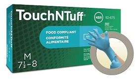 ANSELL TouchNTuff 92-675 Disposable Nitrile Gloves Size Medium - 100 pk.