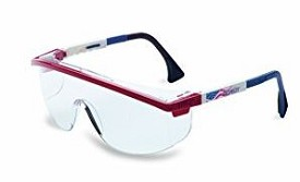 Uvex Astrospec 3000 UVExtreme Anti-Fog Patriot RWB/Clear Safety Glasses - 10 pk.