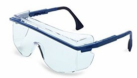Uvex Astro OTG 3001 Uvextreme Anti-Fog Blue/Clear Over-the-Glass Safety Glasses - 10 pk.