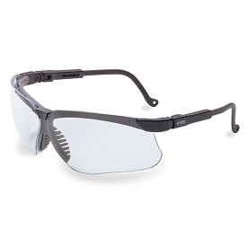 Uvex Genesis Ultra-Dura Anti-Scratch Coated Black/Clear Safety Glasses - 10 pk.