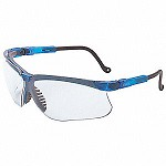 Uvex Genesis 9-Base Peripheral Protection Hydroshield Anti-Fog Coated Vapor Blue/Clear Safety Glasses - 10 pk.
