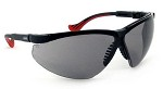 Uvex Genesis XC Extended Coverage Ultra-dura Black/Gray Safety Glasses - 10 pk.