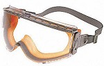 Uvex Stealth UVExtreme Anti-Fog Orange & Gray/Clear Sealed Safety Glasses
