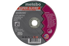 "Metabo Super Slicer Type 27 A60XP 4-1/2"" x .045"" x 7/8"" Cutting Wheel - 50 pk."