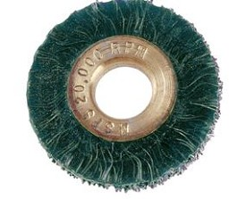 "Osborn 2"" x 1/2"" x .006"" Small Diameter Ty Encapsulated Standard Duty Wheel Brush - 12 pk."