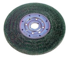 "Osborn 6"" x 1-1/4"" x .010"" Ty Encapsulated Narrow Face Standard Duty Steel Wheel Brush - 4 pk."