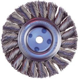 "Osborn 8"" x 2"" x .020"" Steel Heavy Duty Knot Wire Wheel Brush - 12 pk."
