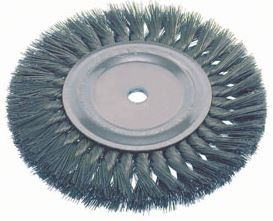 "Osborn 4"" x 5/8-1/2"" x.014"" Steel Knot Wire Wheel Brush"