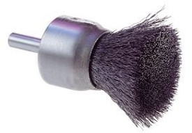 "Osborn 3/4"" x 2-3/4"" x .006"" Steel Crimped Wire End Brush"
