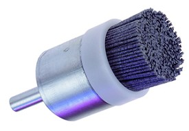 "Osborn 1"" x 2-3/4"" x 1/4"" 120 Grit Silicon Carbide ATCB End Brush with Bridle"