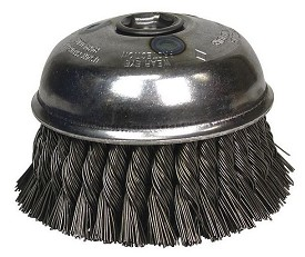 "Osborn 6"" x 5/8-11NC x .035"" Steel Knot Wire Cup Brush"