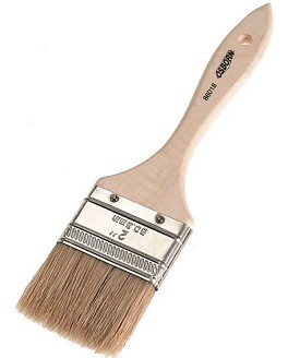 "Osborn 2"" White Bristle Economy Pure White Chip Brush with Wood Handle - 72 pk."