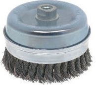 "Osborn 4"" x 5/8-11NC x .014"" Steel Knot Wire Bridled Cup Brush"