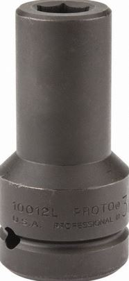 "Proto 4-1/4"" x 7"" 6 Point Black Oxide Deep Impact Socket with 1"" Drive"