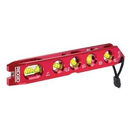 "Ridgid 8-1/2"" Heavy-Duty 5-Vial Torpedo Level"