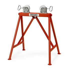 Ridgid Adjustable Roller Support with Steel Wheels