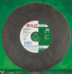 "Sait 16"" x 5/32"" C24R Concrete Stationary Saw Cut-Off Wheel - 10 pk."