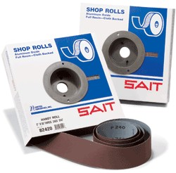 "Sait 1"" x 50 yd. 120 Grit Industrial Shop Roll"