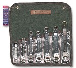 Wright Tool 7 pc. Reversible Ratcheting Box Wrench Offset Pattern Set 9446